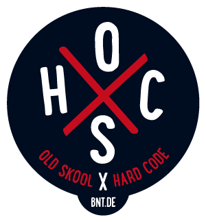 BNT.DE Sticker: Old Skool X Hard Code
